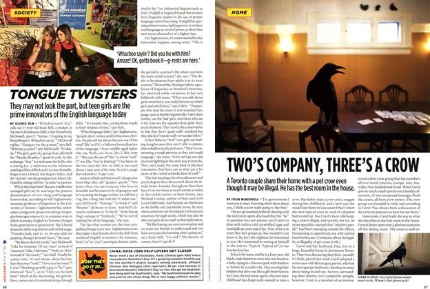 Article Preview: TWO'S COMPANY, THREE'S A CROW, FEB. 27th 2006 2006   Maclean's