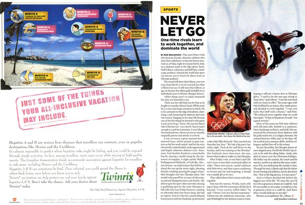 Article Preview: NEVER LET GO, FEB. 27th 2006 2006 | Maclean's