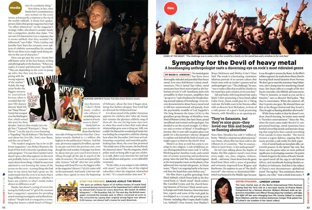 Article Preview: Sympathy for the Devil of heavy metal, FEB. 27th 2006 2006 | Maclean's
