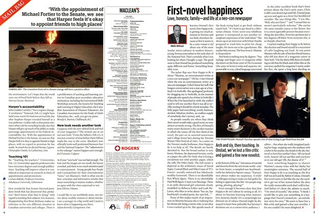 Article Preview: First-novel happiness, FEB. 27th 2006 2006 | Maclean's