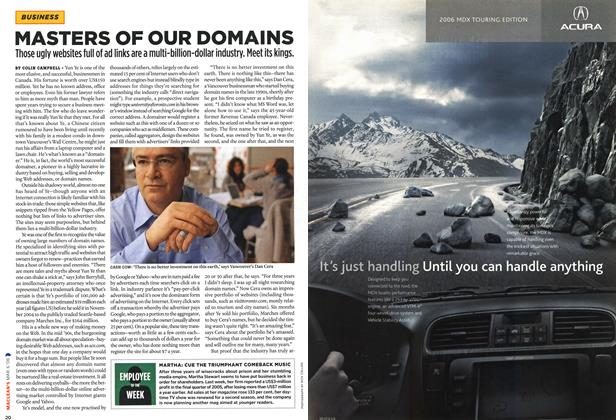Article Preview: MASTERS OF OUR DOMAINS, MAR. 6th 2006 2006 | Maclean's