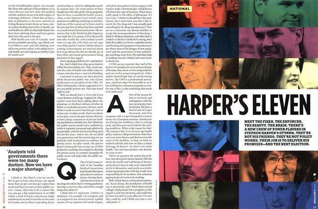 Article Preview: HARPER'S ELEVEN, MAR. 13th 2006 2006 | Maclean's