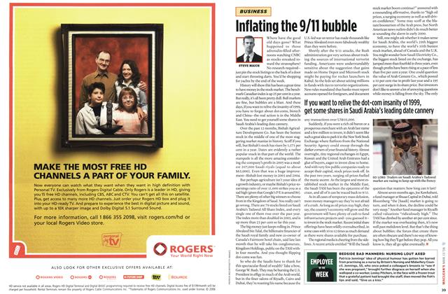 Article Preview: Inflating the 9/11 bubble, MAR. 13th 2006 2006 | Maclean's
