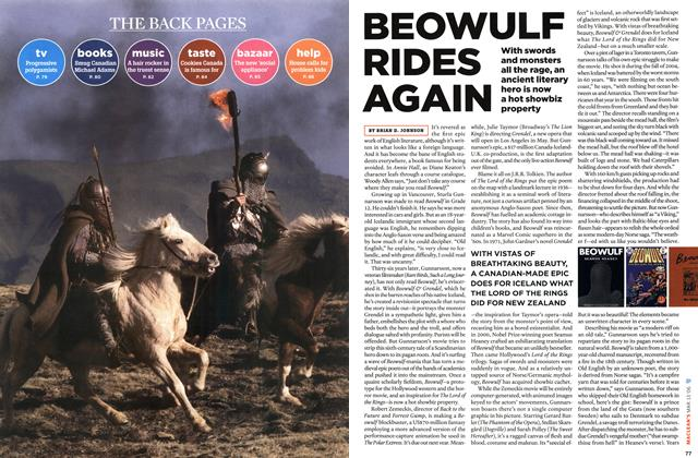 Article Preview: BEOWULF RIDES AGAIN, MAR. 13th 2006 2006 | Maclean's