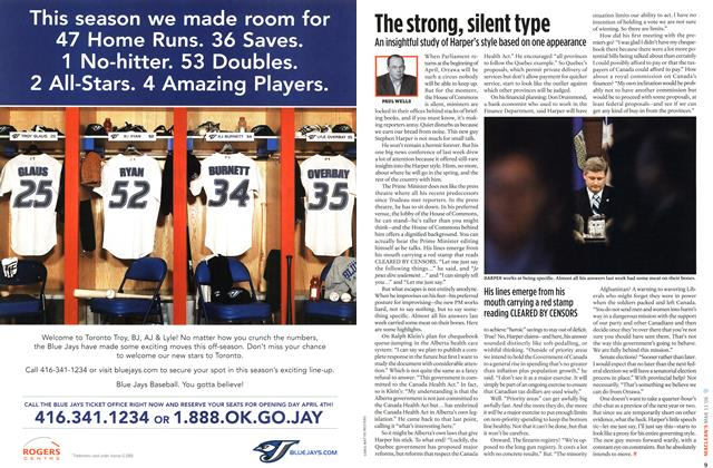 Article Preview: The strong, silent type, MAR. 13th 2006 2006 | Maclean's