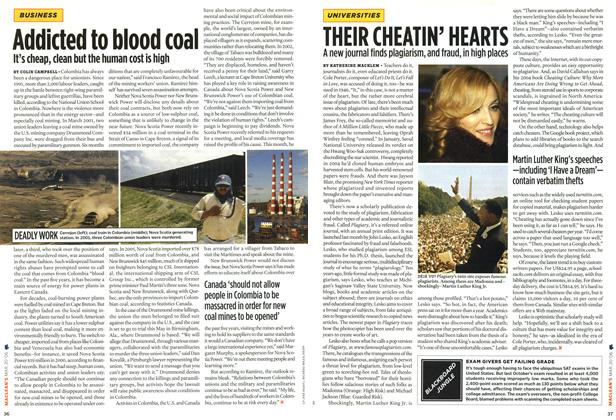 Article Preview: Addicted to blood coal, MAR. 20th 2006 2006 | Maclean's