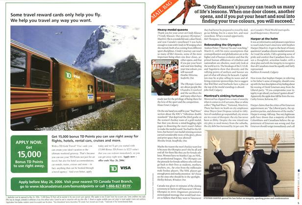 Article Preview: MAIL BAG, MAR. 20th 2006 2006   Maclean's