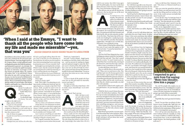 """Article Preview: 'When I said at the Emmys, """"I want to thank all the people who have come into my life and made me miserable""""—yes, that was you', MAR. 20th 2006 2006   Maclean's"""