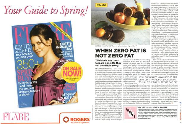 Article Preview: WHEN ZERO FAT IS NOT ZERO FAT, MAR. 27th 2006 2006 | Maclean's