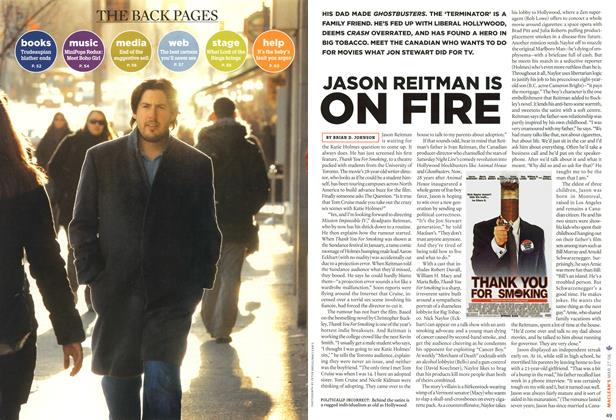 Article Preview: JASON REITMAN IS FIRE, MAR. 27th 2006 2006 | Maclean's