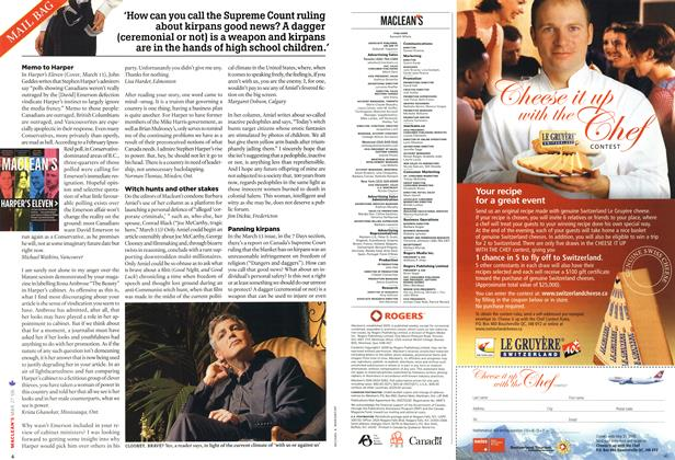 Article Preview: MAIL BAG, MAR. 27th 2006 2006 | Maclean's