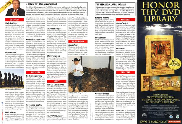 Article Preview: A WEEK IN THE LIFE OF DANNY WILLIAMS, MAR. 27th 2006 2006 | Maclean's