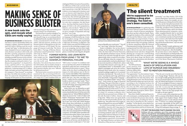 Article Preview: The silent treatment, APR. 3rd 2006 2006 | Maclean's
