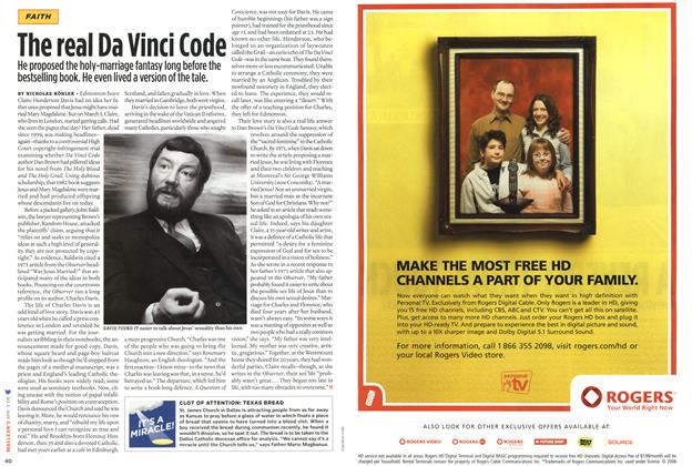 Article Preview: The real Da Vinci Code, APR. 3rd 2006 2006 | Maclean's