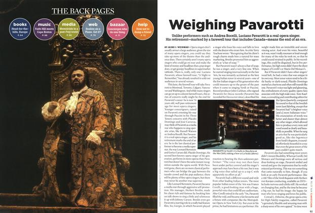 Article Preview: Weighing Pavarotti, APR. 10th 2006 2006 | Maclean's
