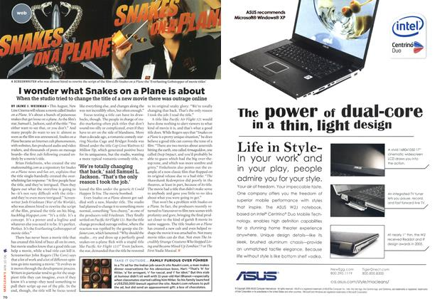 Article Preview: I wonder what Snakes on a Plane is about, APR. 10th 2006 2006 | Maclean's