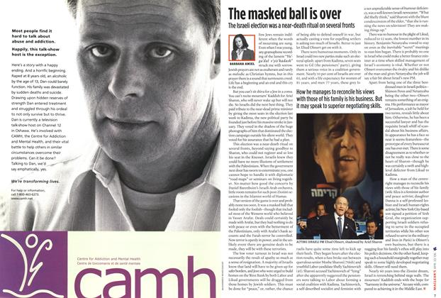 Article Preview: The masked ball is over, APR. 10th 2006 2006 | Maclean's