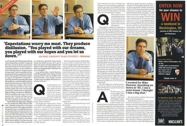"Article Preview: 'Expectations worry me most. They produce disillusion. ""You played with our dreams, you played with our hopes and you let us down."" ', APR. 10th 2006 2006 