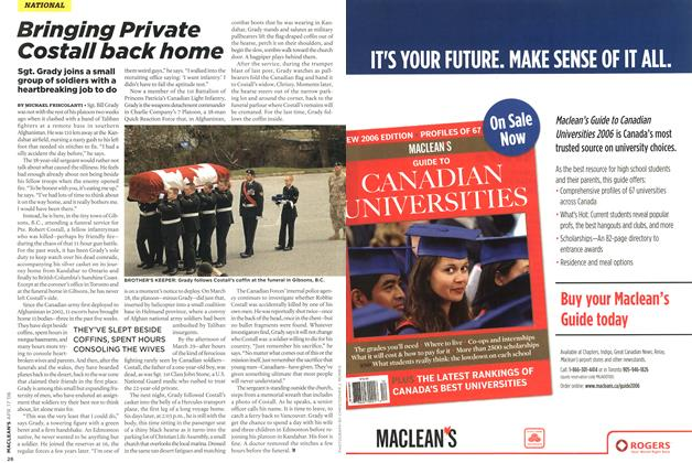 Article Preview: Bringing Private Costall back home, APR. 17th 2006 2006 | Maclean's
