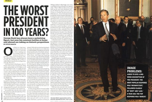 Article Preview: THE WORST PRESIDENT IN 100 YEARS?, APR. 17th 2006 2006 | Maclean's
