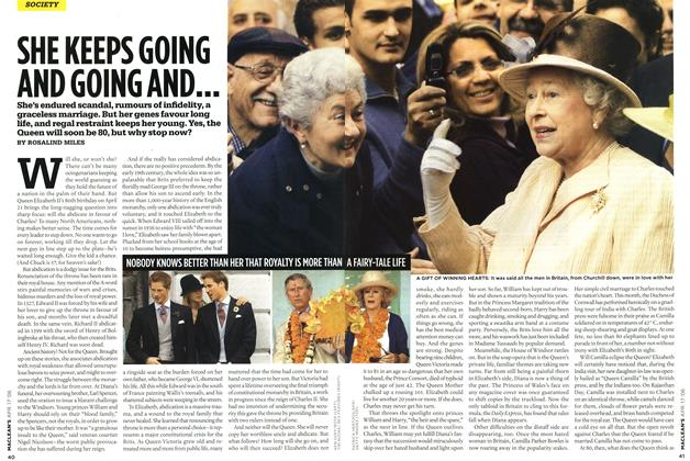 Article Preview: SHE KEEPS GOING AND GOING AND..., APR. 17th 2006 2006 | Maclean's