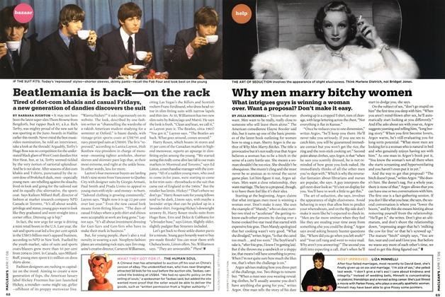 Article Preview: Why men marry bitchy women, APR. 17th 2006 2006 | Maclean's