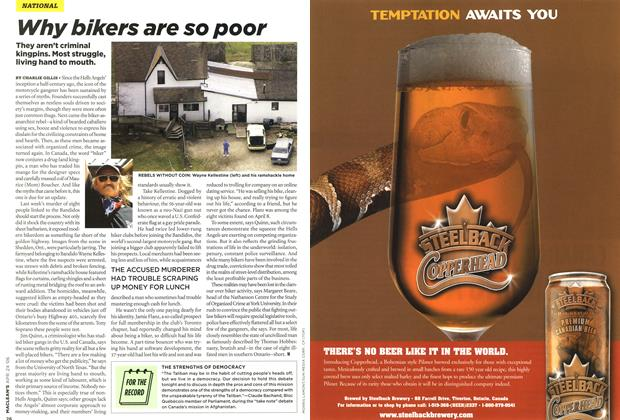 Article Preview: Why bikers are so poor, APR. 24th 2006 2006 | Maclean's