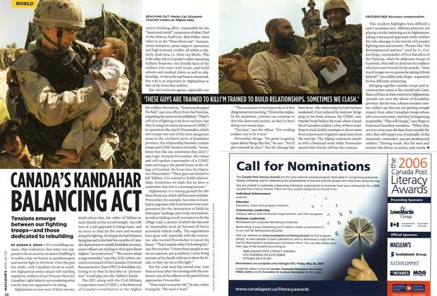 Article Preview: CANADA'S KANDAHAR BALANCING ACT, APR. 24th 2006 2006 | Maclean's