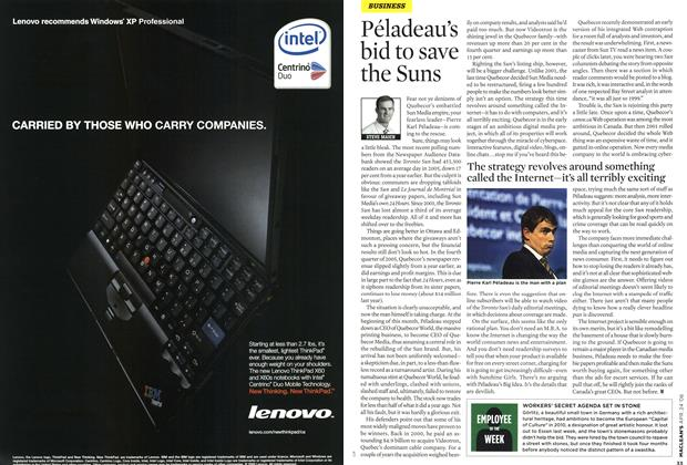 Article Preview: Péladeau's bid to save the Suns, APR. 24th 2006 2006 | Maclean's