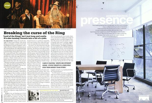 Article Preview: Breaking the curse of the Ring, APR. 24th 2006 2006 | Maclean's