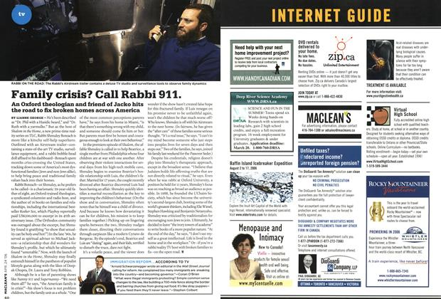 Article Preview: Family crisis? Call Rabbi 911., APR. 24th 2006 2006 | Maclean's