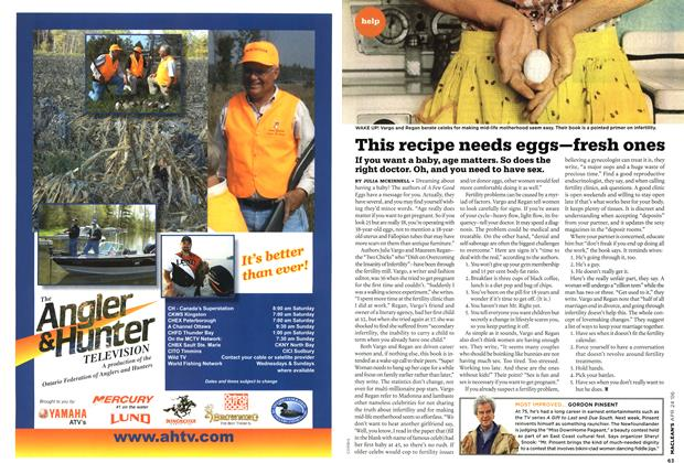 Article Preview: This recipe needs eggs–fresh ones, APR. 24th 2006 2006 | Maclean's