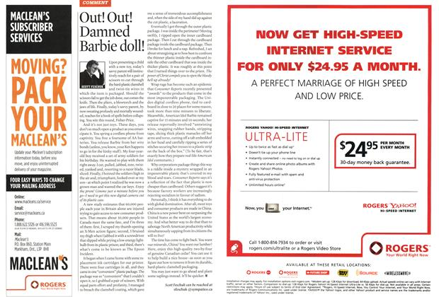 Article Preview: Out! Out! Damned Barbie doll!, APR. 24th 2006 2006 | Maclean's