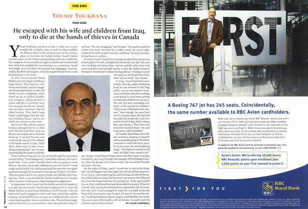 Article Preview: He escaped with his wife and children from Iraq, only to die at the hands of thieves in Canada, APR. 24th 2006 2006 | Maclean's