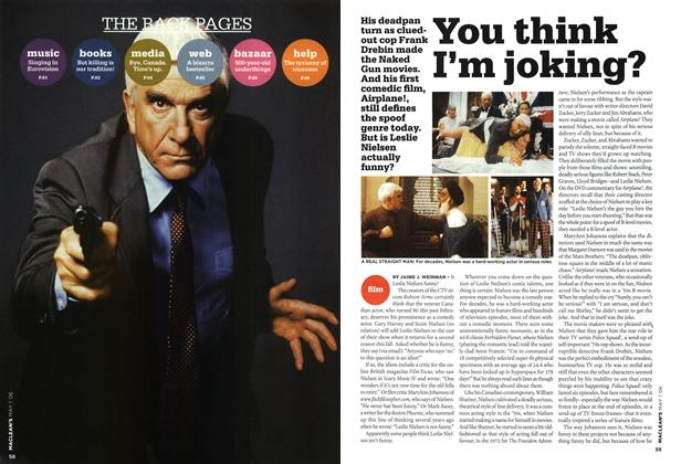 Article Preview: You think I'm joking?, MAY 1st 2006 2006 | Maclean's