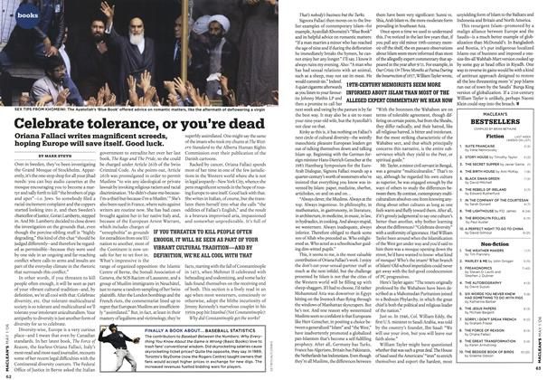 Article Preview: Celebrate tolerance, or you're dead, MAY 1st 2006 2006 | Maclean's