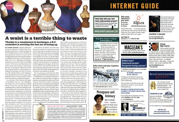 Article Preview: A waist is a terrible thing to waste, MAY 1st 2006 2006 | Maclean's