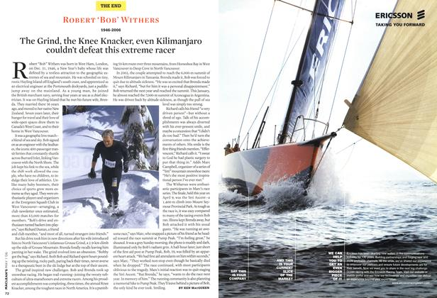 Article Preview: The Grind, the Knee Knacker, even Kilimanjaro couldn't defeat this extreme racer, MAY 1st 2006 2006 | Maclean's