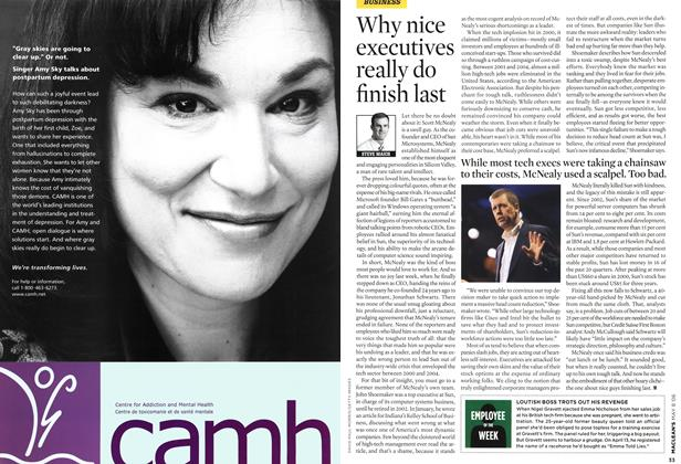 Article Preview: Why nice executives really do finish last, MAY 8th 2006 2006 | Maclean's