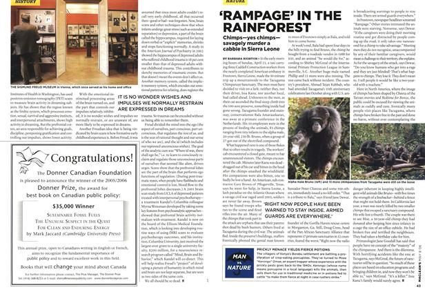 Article Preview: 'RAMPAGE' IN THE RAINFOREST, MAY 8th 2006 2006 | Maclean's