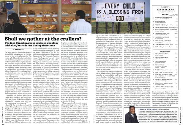 Article Preview: Shall we gather at the crullers?, MAY 8th 2006 2006 | Maclean's