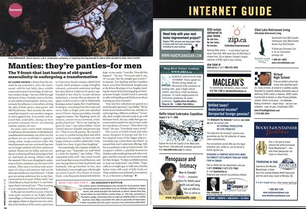 Article Preview: Manties: they're panties-for men, MAY 8th 2006 2006 | Maclean's