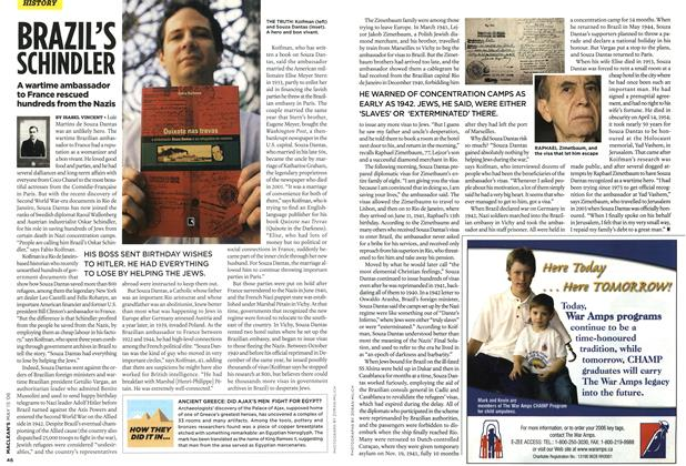 Article Preview: BRAZIL'S SCHINDLER, MAY 15th 2006 2006 | Maclean's