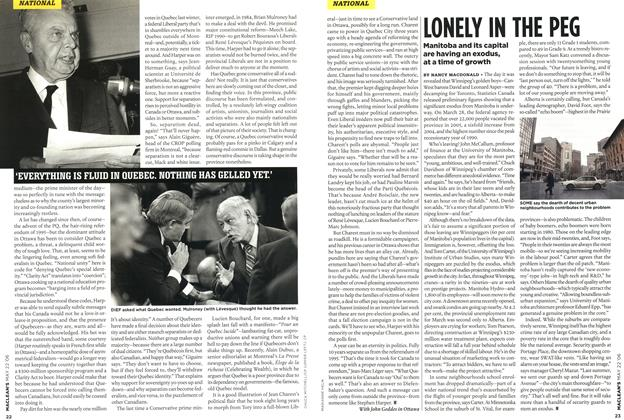 Article Preview: LONELY IN THE PEG, MAY 22nd 2006 2006 | Maclean's