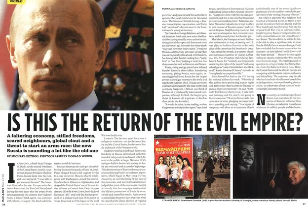 Article Preview: IS THIS THE RETURN OF THE EVIL EMPIRE?, MAY 22nd 2006 2006 | Maclean's