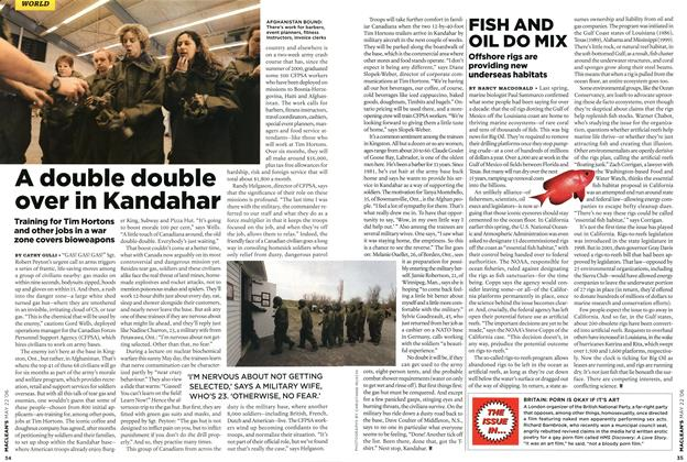 Article Preview: A double double over in Kandahar, MAY 22nd 2006 2006 | Maclean's