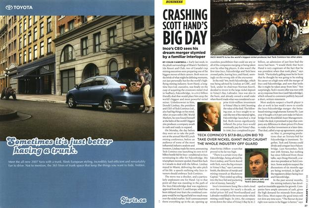 Article Preview: CRASHING SCOTT HAND'S BIG DAY, MAY 22nd 2006 2006 | Maclean's