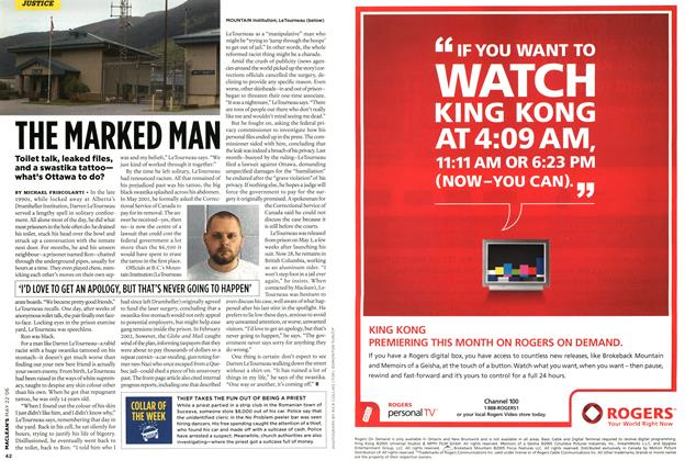 Article Preview: THE MARKED MAN, MAY 22nd 2006 2006 | Maclean's