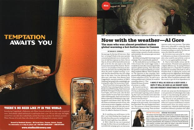 Article Preview: Now with the weather—Al Gore, MAY 22nd 2006 2006 | Maclean's