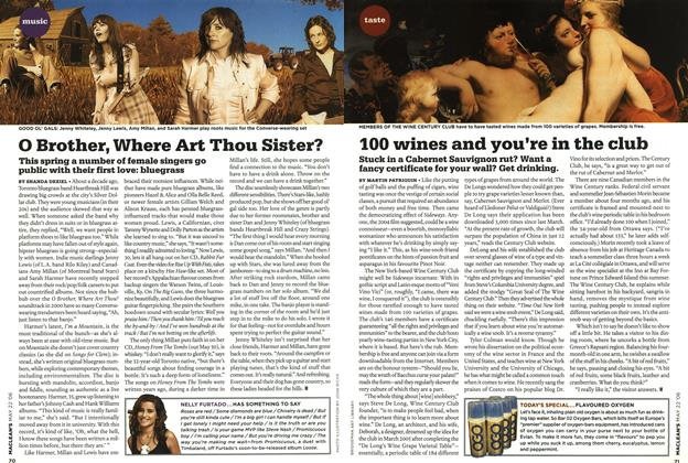 Article Preview: 100 wines and you're in the club, MAY 22nd 2006 2006 | Maclean's